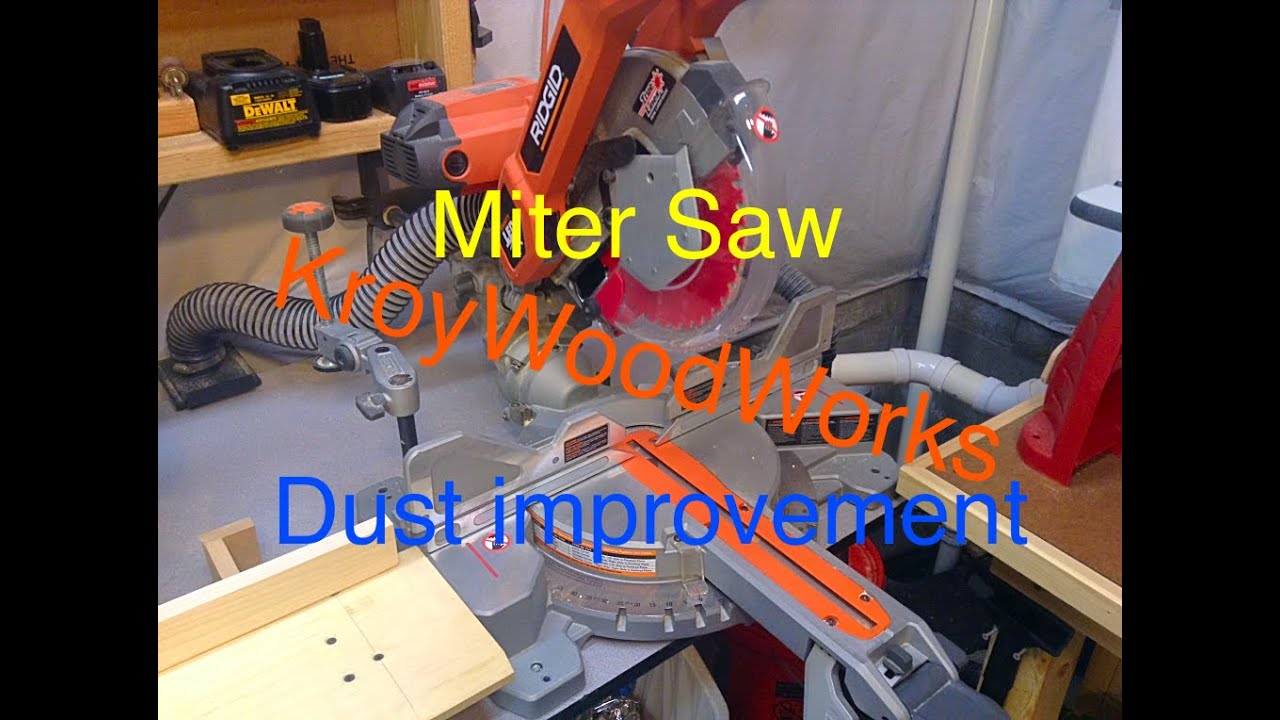 Miter Saw Dust Collection Improvement Youtube