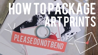 How to Package Art Prints | Keely Elle
