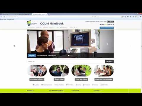 Student Portal and CQUni Handbook Demonstration Video