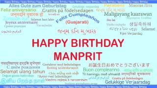 Manprit   Languages Idiomas - Happy Birthday