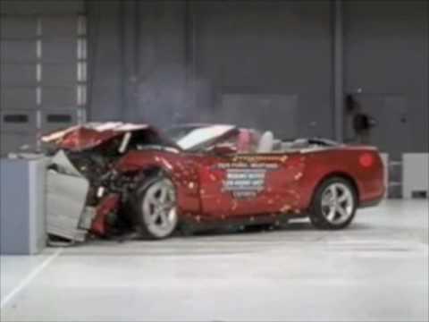 2010 ford mustang convertible iihs crash tests - Ford Mustang Convertible 2010