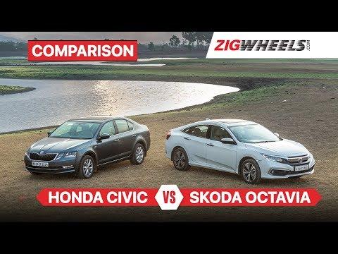 2019 Honda Civic vs Skoda Octavia | Petrol AT Comparison Review | ZigWheels