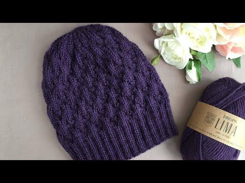 Вязаные зимние шапки спицами со схемами для девочек зимние
