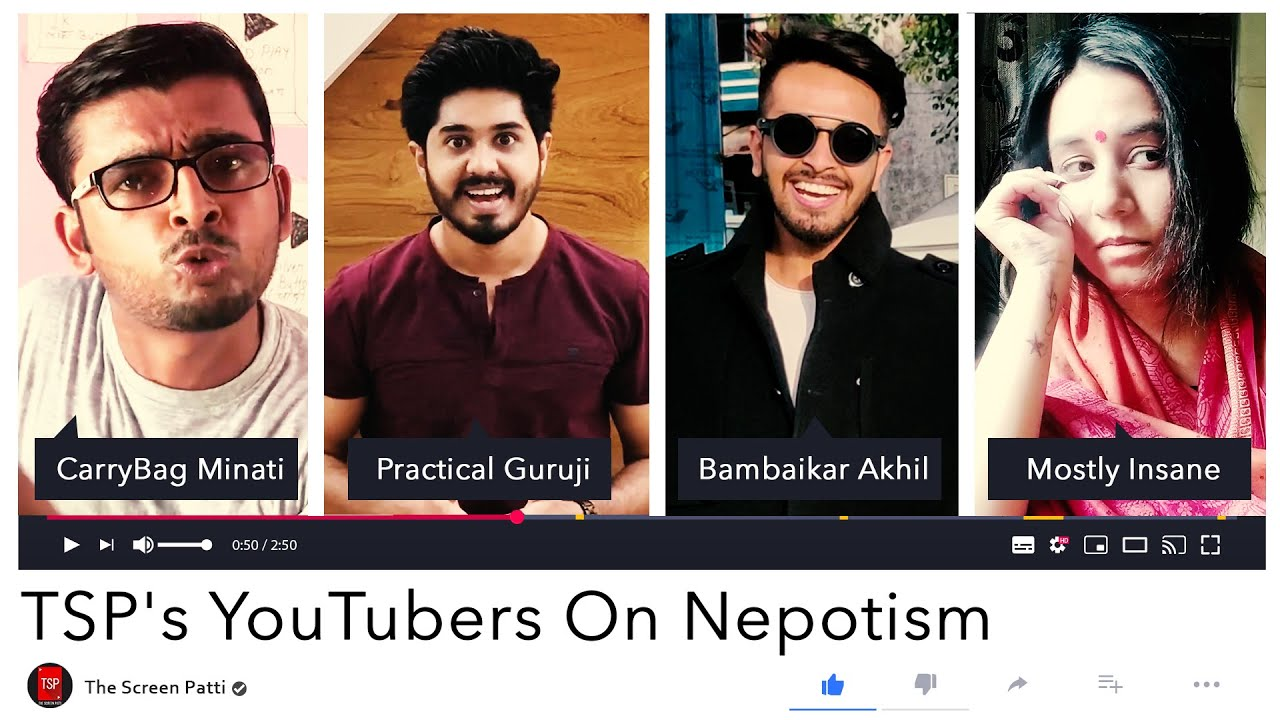 TSP's YouTubers On Nepotism