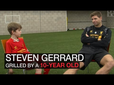 Steven Gerrard grilled by 10 year-old fan
