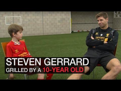 Steven Gerrard grilled by 10 year-old fan