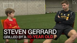 Steven Gerrard grilled by 10 year-old Red