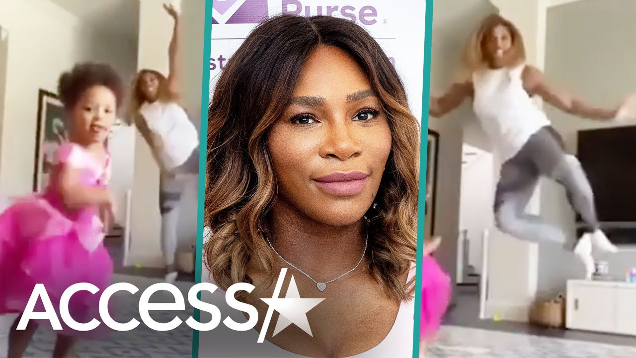 Serena Williams & Daughter Olympia Dance To 'Tangled'
