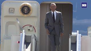 US President Barack Obama lands in Manila for APEC 2015