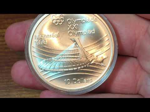 Canada 10 Dollars 1976 - Olympic Stadium (Large Silver Coin Of The Week Oct 17 2017)