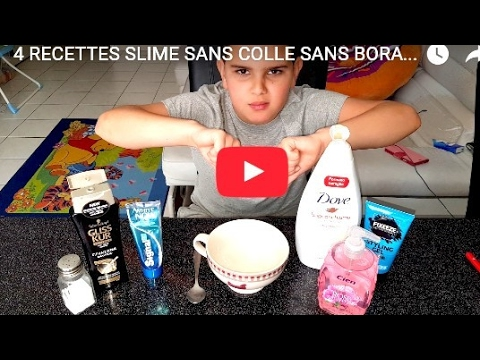 4 recette slime populaire facile inratable sans colle sans borax sans lessive avec 1 seul. Black Bedroom Furniture Sets. Home Design Ideas
