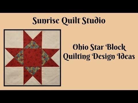 Ohio Star Block Quilting Designs