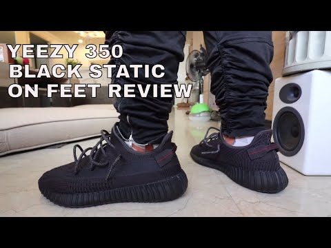 WHY THE YEEZY 350 BOOST V2 BLACK STATIC IS SO HYPE (ON FEET REVIEW)