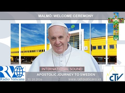 2016.10.31 Pope Francis in Sweden - Official welcome ceremony