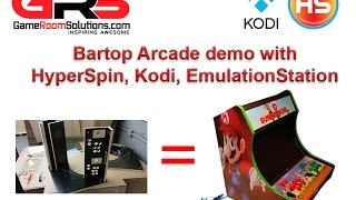 Bartop Arcade Demo with HyperSpin and EmulationStation
