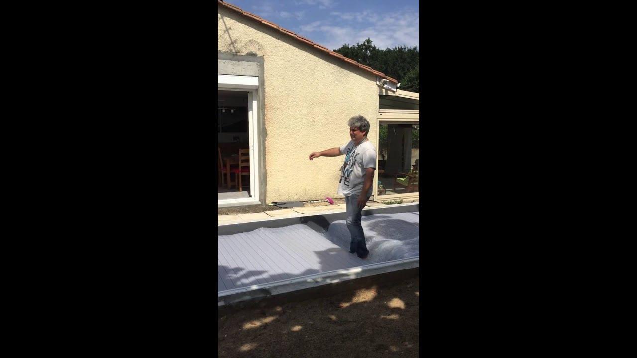 Test Volet Roulant Piscine 2 Youtube
