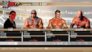 WWE 2K17 WCW Roster Unlockable Legends - PS4, XB1, PS3, Xbox 360  (notion)