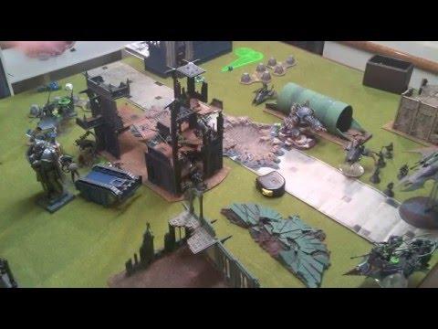 Warhammer 40k - Alpha Legion vs Dark Eldar - Battle Report