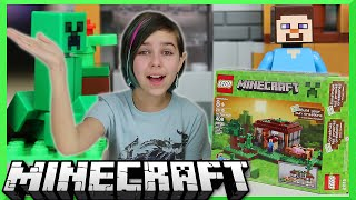 LEGO Minecraft - The First Night Set Review - Steve, Creeper and Pig Mini Figure
