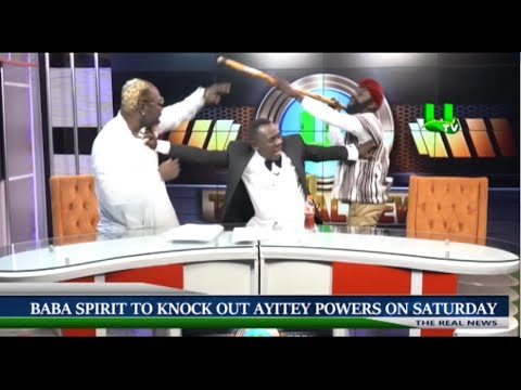 Akrobeto weeps as Baba Spirit and Ayitey Powers trade blows on Real News