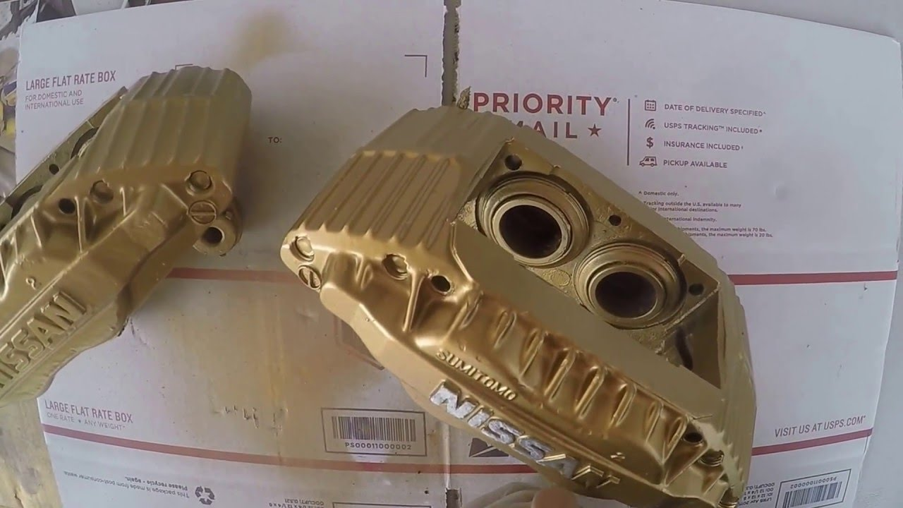 Project Build 240sx Repainting 300zx Calipers Gold Caliper
