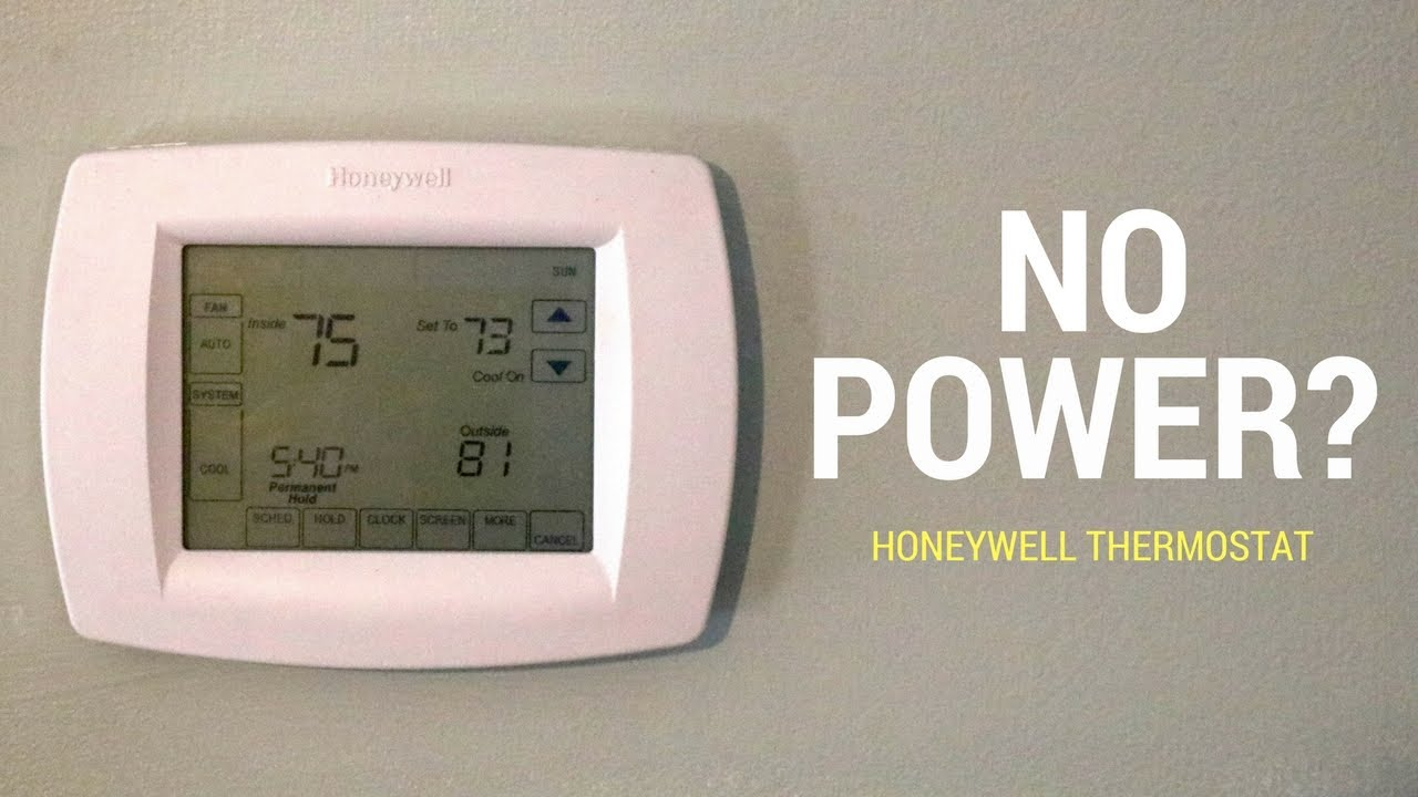 medium resolution of no power to honeywell thermostat here s a fix
