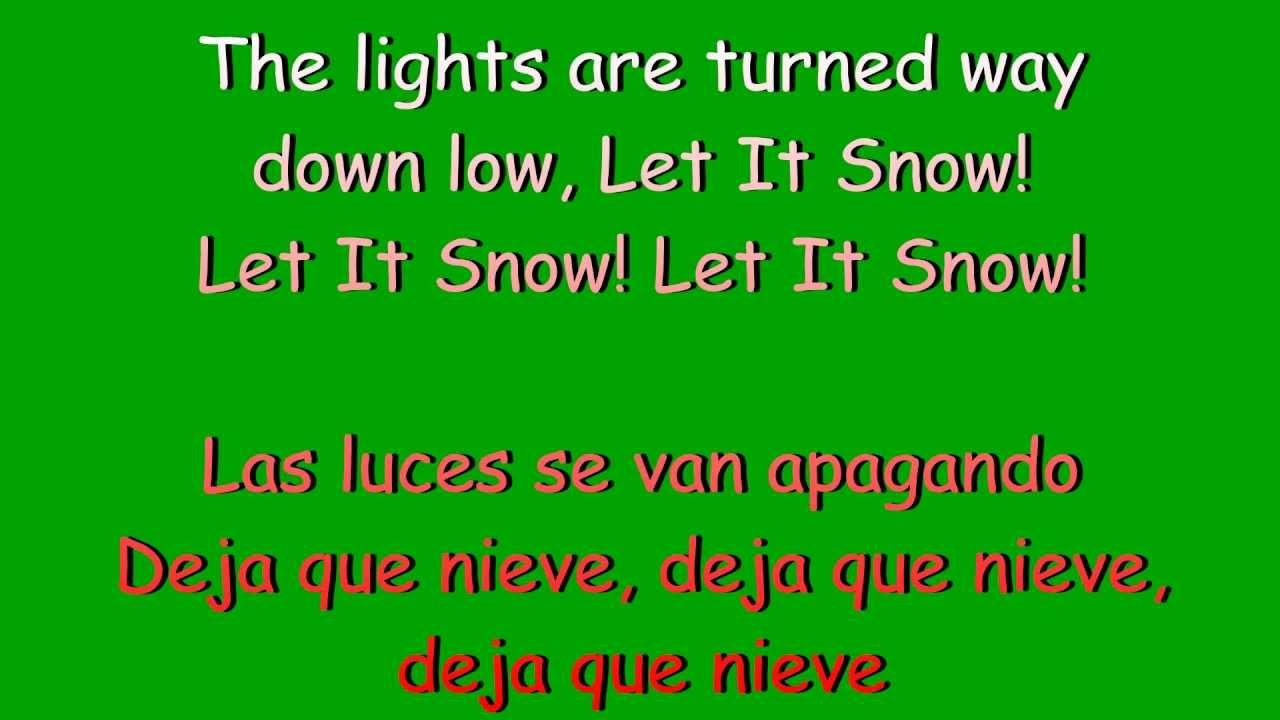 Glee - Let it snow (lyrics & traduccion en español) - YouTube