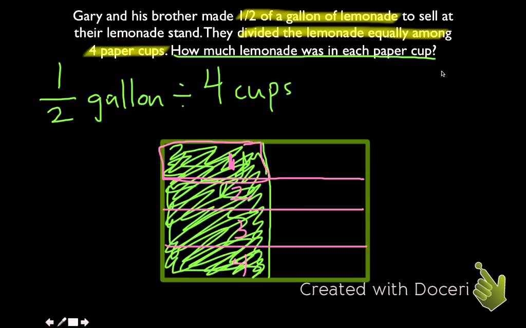 Dividing fractions by whole numbers models youtube ccuart Choice Image