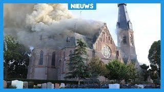 Verdriet door afgebrande kerk in Amstelveen