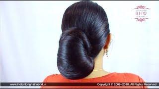ILHW Sunila 39 s Beautiful Elegant Layered Bun Koli Style Bun Making Flaunting Bun Drop