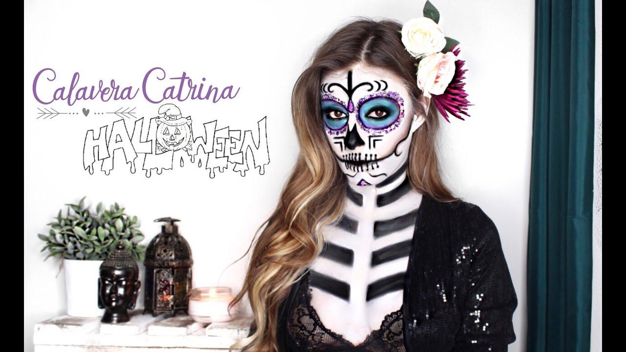 Catrina calavera mexicana maquillaje paso a paso halloween dia de los muertos youtube - Maquillage dia de los muertos ...