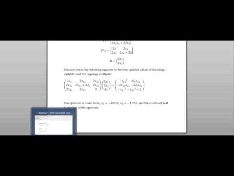 Sequential Quadratic Programing