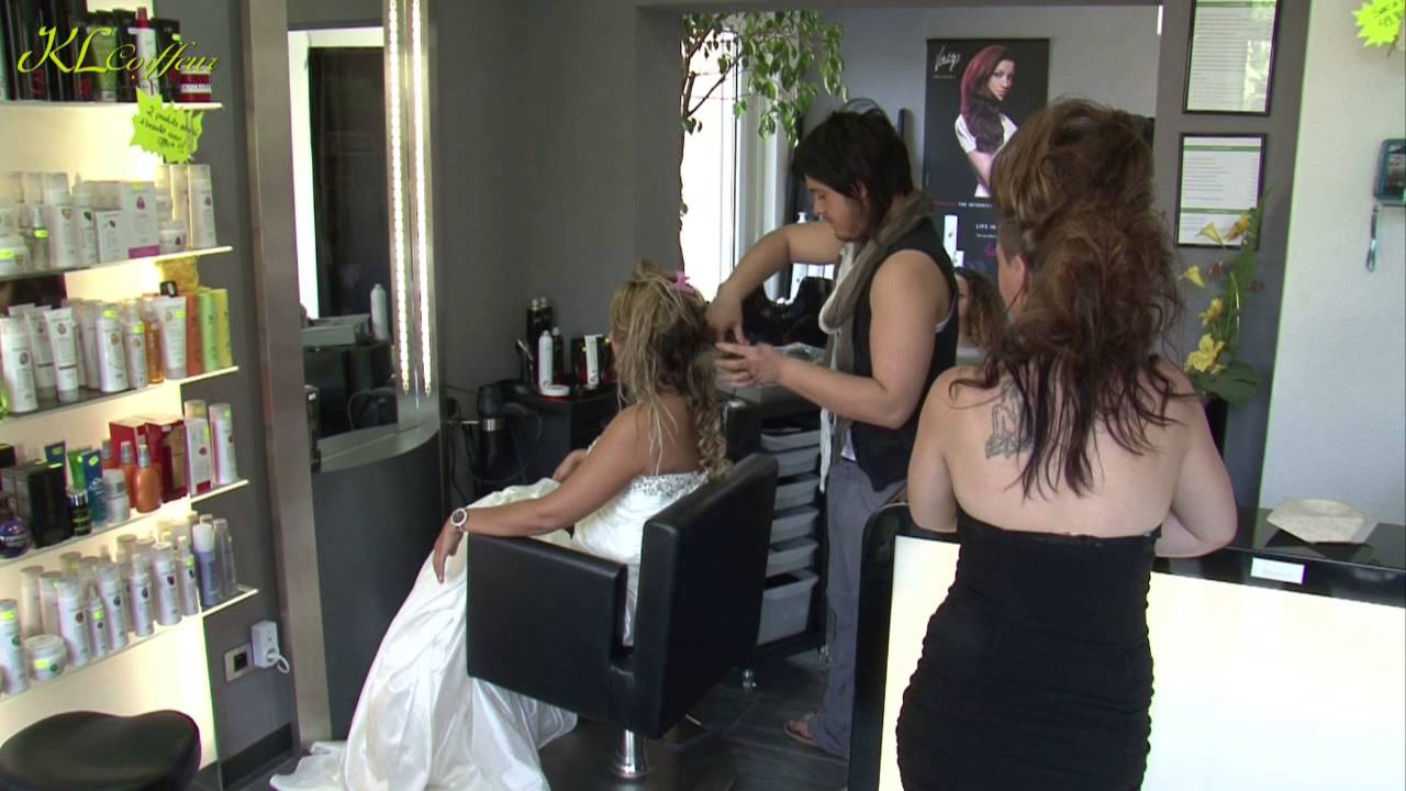 Extensions cheveux naturels chignon mari e kl coiffeur for Salon coiffure colmar
