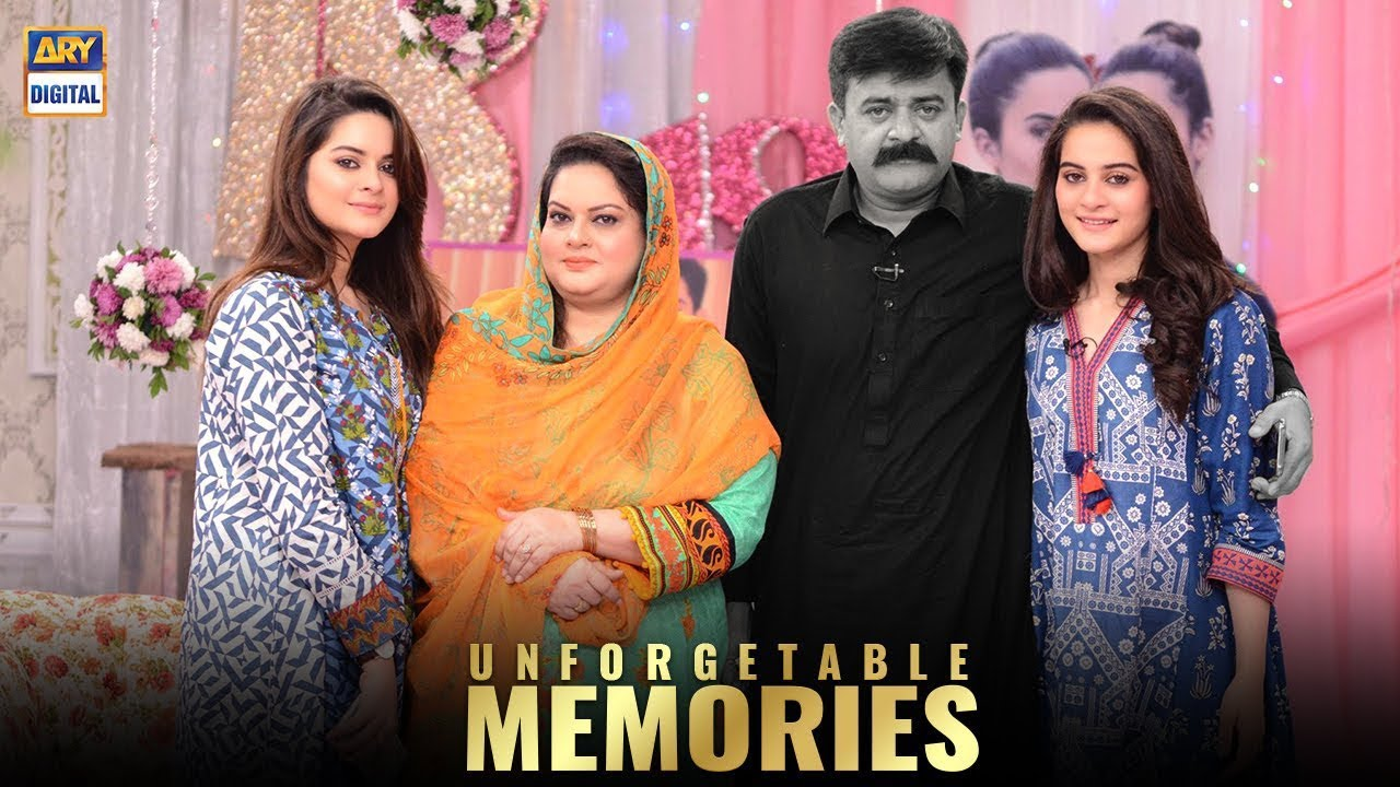 Aiman Khan & Minal Khan Shared Some Colorful Memories With Father - Good Morning Pakistan