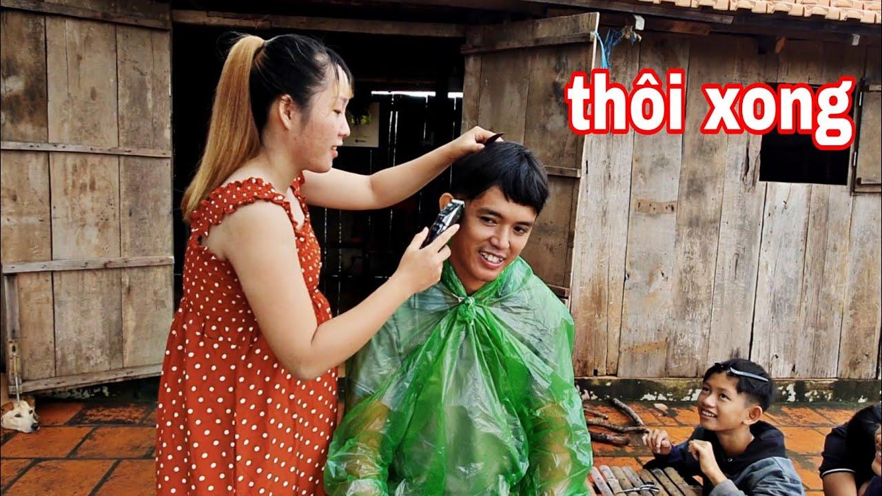 MỞ TIỆM CẮT TÓC CHO VỢ BẦU   Cái Kết Cho Sang Vlog