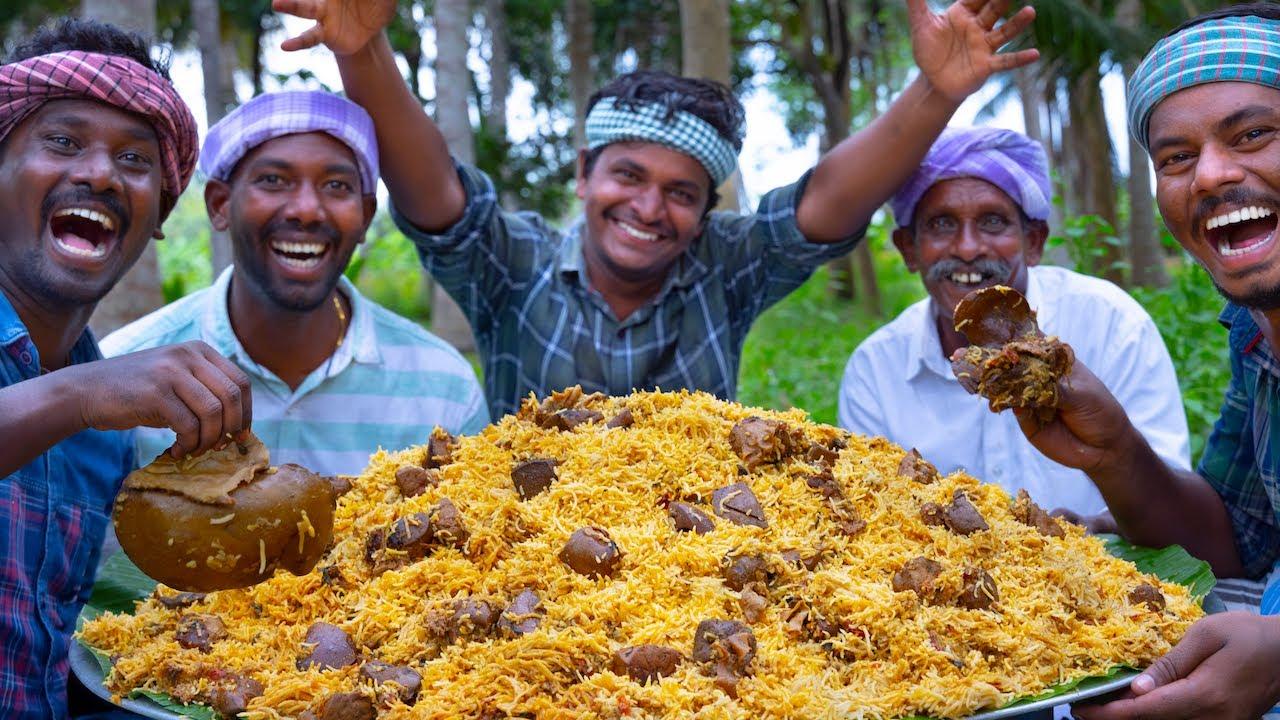 LIVER BIRYANI | Mutton Liver Biryani Cooking in Village | Biryani Recipe | Goat Liver Recipe