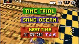 [TAS] Backwards F-Zero X Climax: Sand Ocean - High Speed Edge