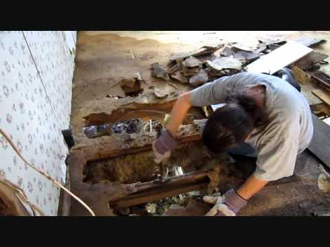 Old Mobile Home Floor Repair - YouTube