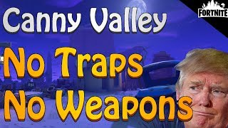FORTNITE - Canny Valley Storm Shield Defense 1 Solo Without Using Weapons, Traps Or Abilities