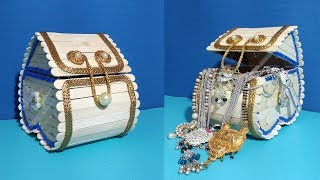 Make Ice Cream Stick Jewelry Box - Querciacb