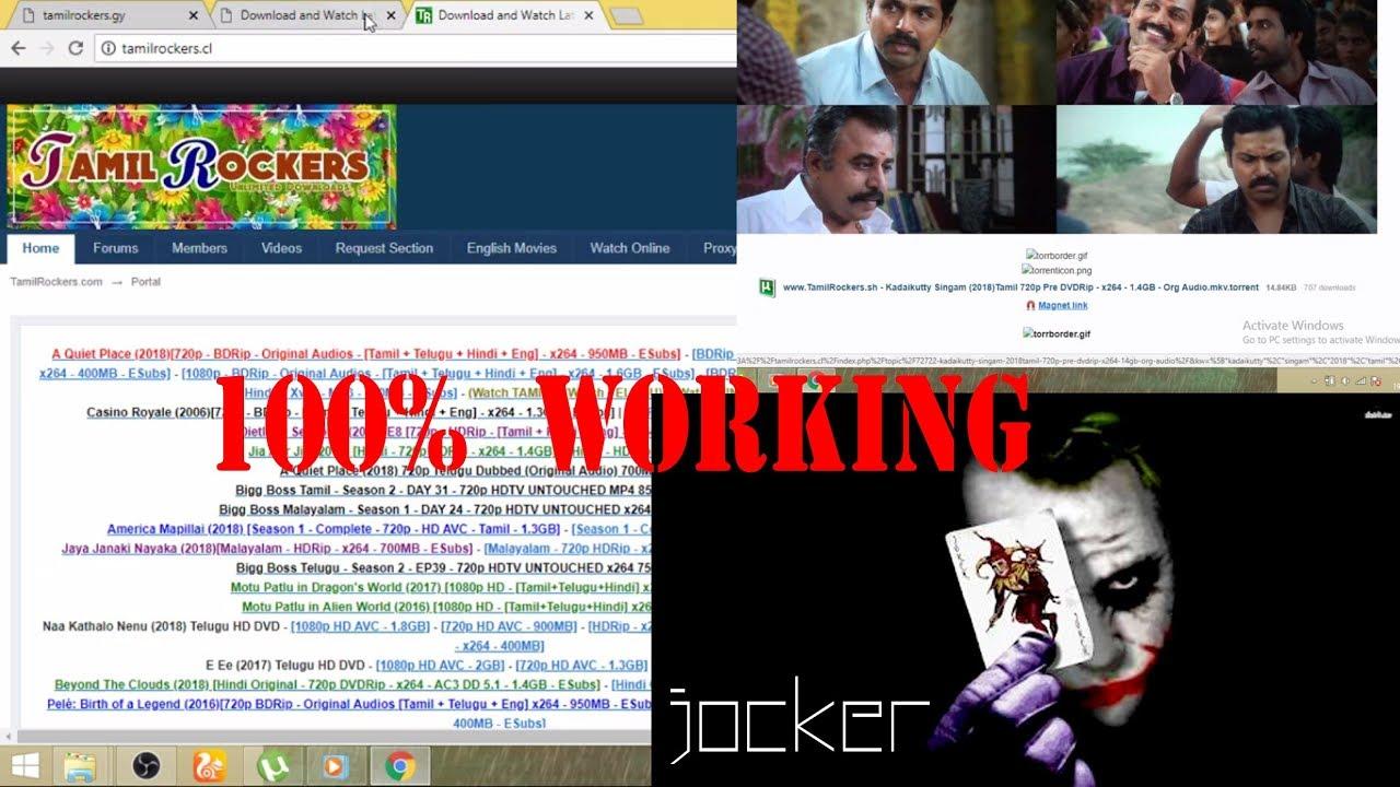 Tamilrockers New Website 2018