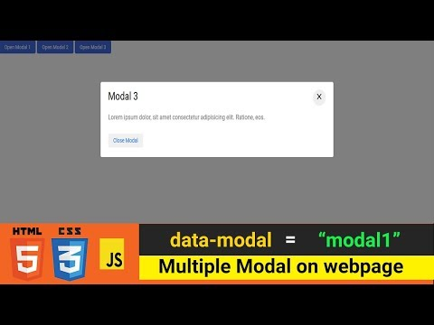 Create Multiple Modals On Web Page Using Single JavaScript. | Programming Trick