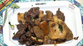 167 - Fegatini con funghi porcini...molto meglio dei rubini! (secondo a base di carne buonissimo)