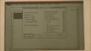 Apple Macintosh Portable (1989) Start Up and Demonstration