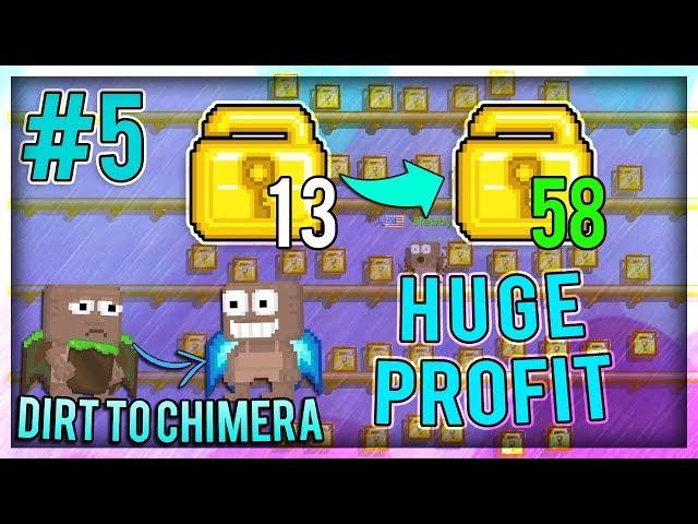 HUGE PROFIT! - Dirt To Chimera Wings #5 - Growtopia