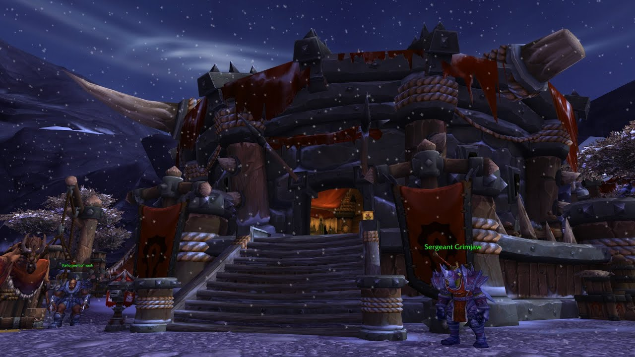 Wow horde garrison upgrade to lvl 2 youtube wow horde garrison upgrade to lvl 2 malvernweather Image collections