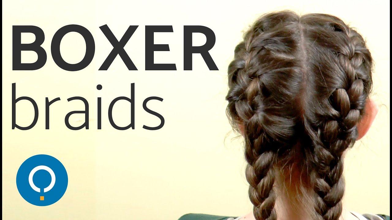 Easy Boxer Braids Tutorial Double Dutch Braids Youtube