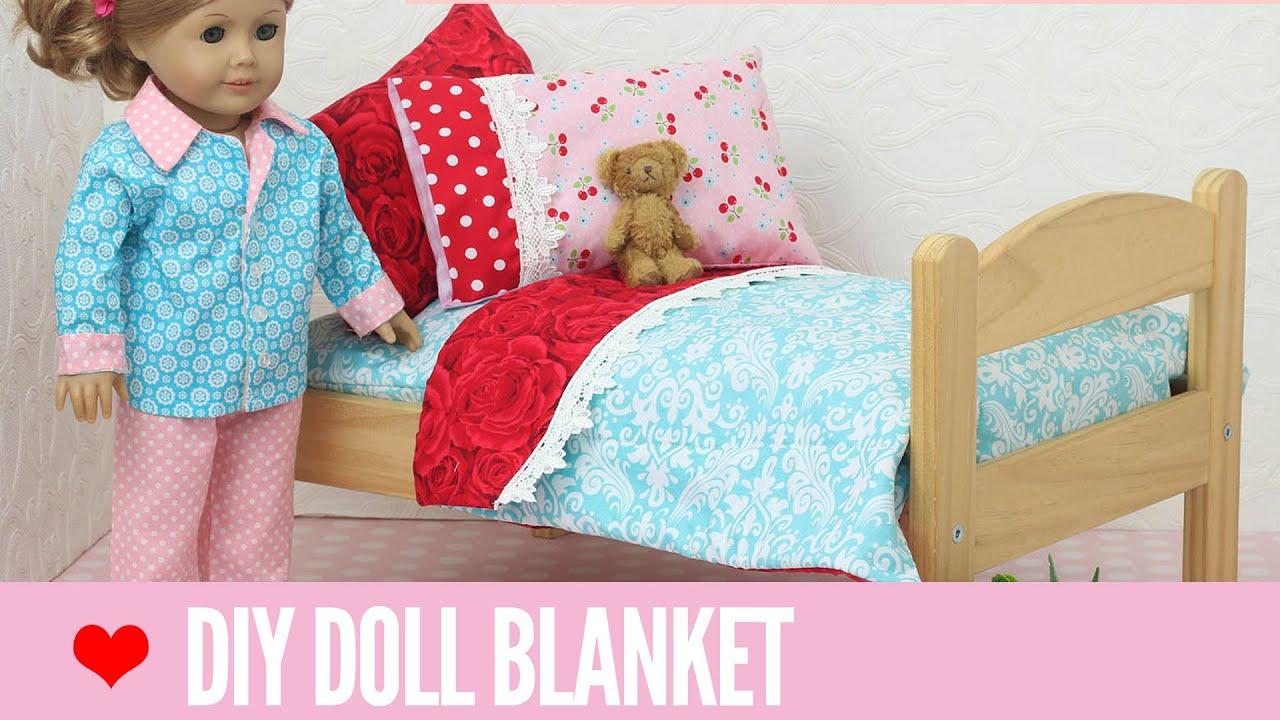 Doll Blanket Pattern For 18 Inch Dolls Easy For Beginners Youtube