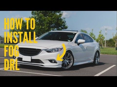 How To Install 2014 – 2017 Mazda 6 Fog Light DRL