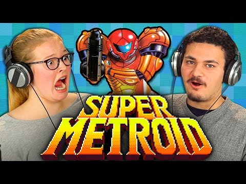 SUPER METROID (30th Anniversary Metroid) (Teens React: Retro Gaming)